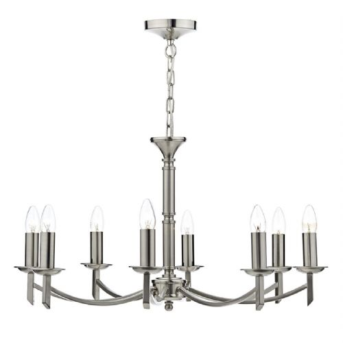 Ambassador 8 Light Dual Mount Pendant Satin Chrome AMB0846